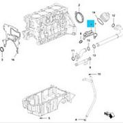 Прокладка теплообменника Cruze F16D4 большая №6 (в комплекте 8+1шт №6-№13) (?р/компл. / ? c RJ) фото