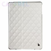 Чехол JisonCase Quilted Leather Cover White для iPad Air фото