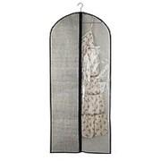 Чехол для одежды Vetta с прозрачным окном, 60х138см, искусственный лен, полиэтилен фото