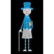 Снеговик в синем костюме фото