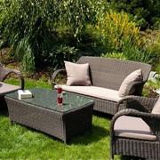 Мебель для баз отдыха, комплект Фиренз - РОЯЛ - 2 кресла + диван + стол - мебель для сада, дома, гостиницы, ресторана - РАМСЕС ЛЕНД фото