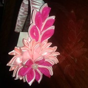 Ободок розовый канзаши фото