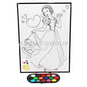 Картинка большая фетр с красками Disney фото