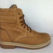 Ботинки кожаные зимние Бенцы фото