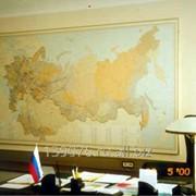 Изготовления географических карт на заказ фото