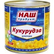 Кукурудза сахарная консервированная ж/б, 430 г фото