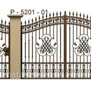 Ворота сварные металлические №56 фото
