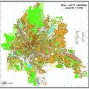 Настенная план-схема г.Харькова масштаба 1:15 000 фото
