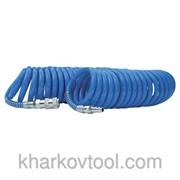Шланг спиральный полиуретановый 8*12 мм, 15м с быстроразъемными соединениями Intertool PT-1717 фото