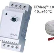 Терморегуляторы электронные на шину DIN DEVIregTM 330 диапазон регулирования -10...+10 °С, фото