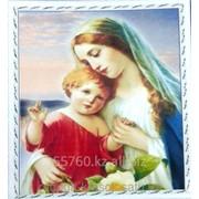 Картина стразами Дева Мария с младенцем 50х60 см фото