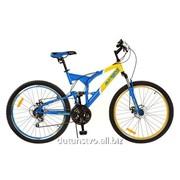 Велосипед 24д. G24S226-UKR-1 сталь желто-голубой фото