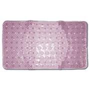 Коврик резиновый массажный 66х39 (BR-6639) для ванной на присосках, розовый фото