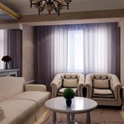 Дизайн интерьера трехкомнатной квартиры - гостиная-кухня фото