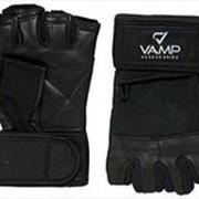 VAMP 532. Перчатки для пауэрлифтинга с фиксацией запястья. фото