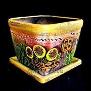 """Горшок для цветов из керамики ручной работы """"Хатка средняя"""" фото"""
