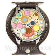 """Оригинальные часы """"Цветные кружочки"""" фото"""