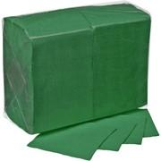 Салфетки бумажные Lista, 1-слойные, 24x24 см, зеленые, 400 листов фото