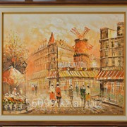 """Картина """"Парижские улочки. Мулен Руж"""" фото"""