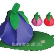 Набор из двух предметов (шапка Дюймовочка, коврик зеленый лист),БШ, 100% - 5. фото