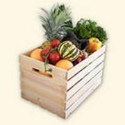 Деревянная тара для овощей и фруктов фото