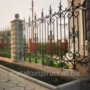 Забор с ковкой на просвет №12 фото