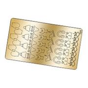 Freedecor, Металлизированные наклейки №191, золото фото