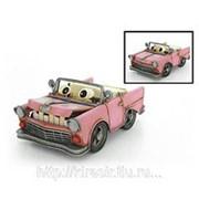 Декоративная модель автомобиля CADILLAC CONVERTIBLE 1957г. «глазастый»,розовый фото
