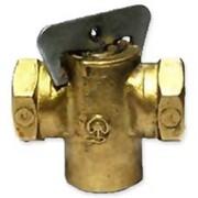 Кран конусный латунный газовый фото