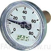 "Термометр 0-80°С, зонд 36мм, D=40 мм, торцевое соединение 3/8"", артикул FA 2651 фото"