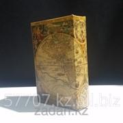 Книга сейф в деревянной обложке Старинные карты мира фото