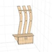 Мебель для прихожей (вешалка и тумба) фото