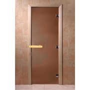 Стеклянная дверь для бани Doorwood матовая фото
