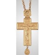 Крест наперсный малый с цепью золочение фото
