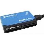 Считыватель карт памяти картридер usb 2.0 Defender Ultra, CF, XD, TF-microSD, SD, MMC, MS, M2 фото
