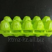 """Пластиковый контейнер для яиц П-12 """"Десятка"""" салатовый фото"""