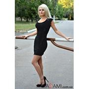 Коктейльное черное платье-мини, Артикул №285101 фото