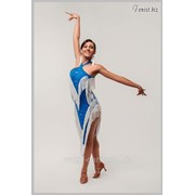"""Платье для бальных танцев с бахромой, """"Брилиант""""арт.285 фото"""