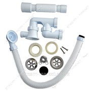SoloPlast Р 0110 Сифон для ванны с нержавеющим выпуском и ревизией фото