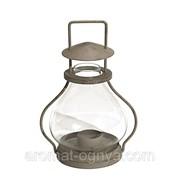 """Лантерн стеклянный в металлической оправе """"Конрад"""" 13х24 см. 39467 фото"""