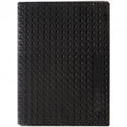 Обложка для автодокументов и паспорта OfficeSpace кожа тип 3, черный, плетенка фото