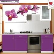 Кухня с фотофасадом (цветок) фото