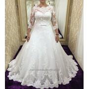 Свадебное платье с рукавами Алматы фото