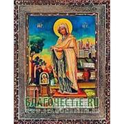 Благовещенская икона Геронтисса Богородица, копия старой иконы, печать на дереве Высота иконы 11 см фото