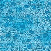 """Упаковочная бумага Миленд """"Джентельменский набор"""", 10 листов, 70 х 100 см., 90 г/м2, УБ-8114 фото"""
