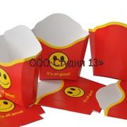 Упаковка для картофеля «фри» на 300грм. фото