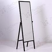 Зеркало напольное для примерки в полный рост, широкое, с ограничительным тросом УН-150-48(черн) фото