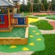 Покрытие детских игровых площадок фото