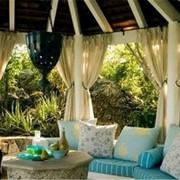 Пошив штор для террас и беседок фото