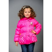 "Весенняя куртка детская ""Китти"" Hello Kitty 0021 Малина фото"